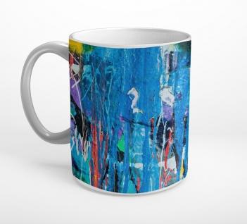 Abstrakt Kunst Öl Aquarell Farbkleckse Tasse T0798