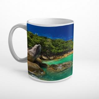 Strand Meer Felsen Insel Tasse T1148