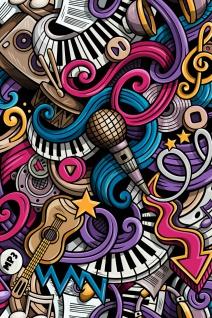 Graffiti Instrumente Musik Illustration Kunstdruck Poster P0413