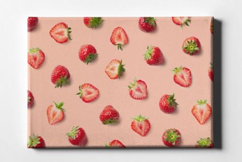 Erdbeer Muster Leinwand L0077