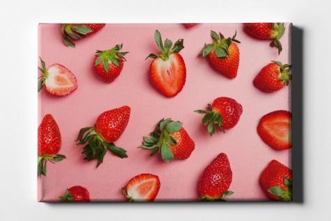 Erdbeern Muster Leinwand L0085