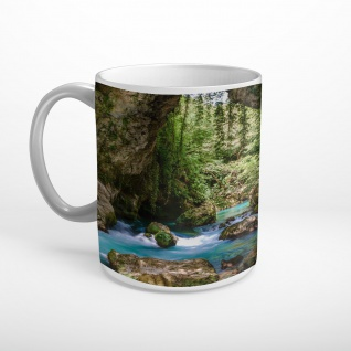 Wald Bach Natur Tasse T0639