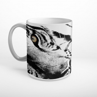 Tiger Schwarz/Weiß Tasse T0363
