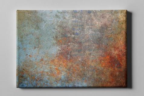Metall Effekt Rost Orange Gelb Pastell Industrial Art Leinwand L0218