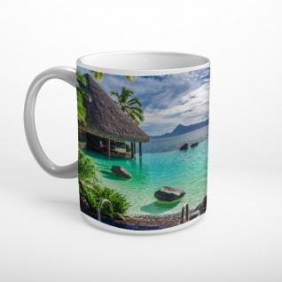 Malediven Strand Insel Bucht Meer Tasse T0486