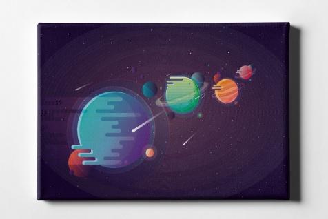 Gaming Planeten-System Pixelgrafik Leinwand L0046