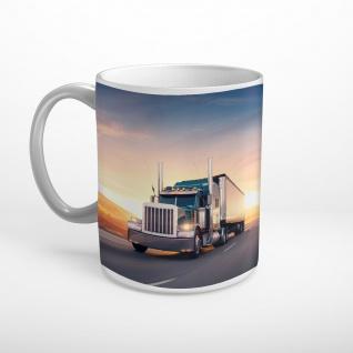 Truck LKW Sonnenuntergang Tasse T0544