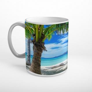 Meer Strand Palmen Tasse T1798