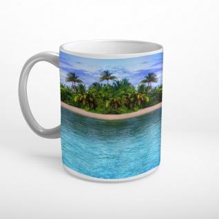 Insel Meer Strand Palmen Tasse T1901