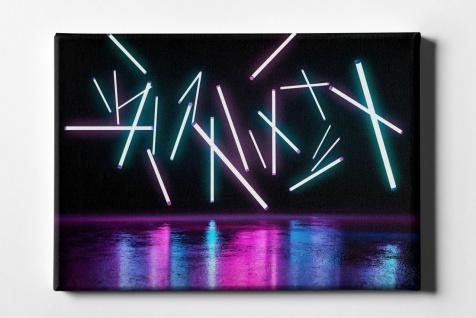 Neon Röhren Leinwand L0099