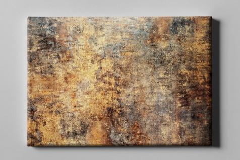 Metall Effekt Rost Gelb Braun Industrial Art Leinwand L0219