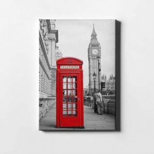 London Big Ben Telefonzelle City Leinwand L0419