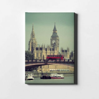 London Big Ben Themse City Leinwand L0423