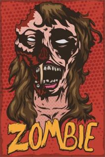 Zombie Frau Comic Kunstdruck Poster P0277