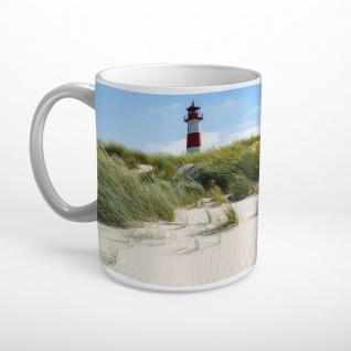 Sylt Strand Meer Leuchtturm Tasse T1366