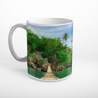 Insel Steg Meer Tasse T0546