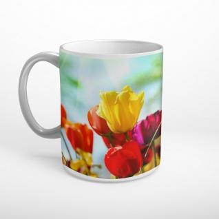 Blumen Tulpen Bunt Tasse T0990