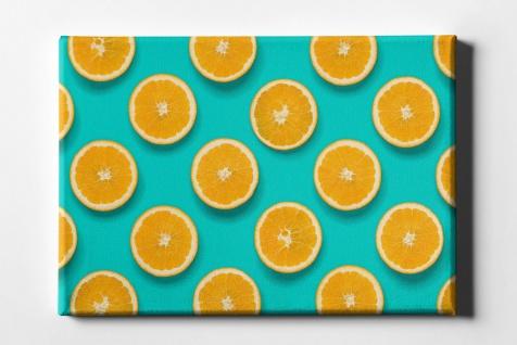 Zitronen Muster Leinwand L0082