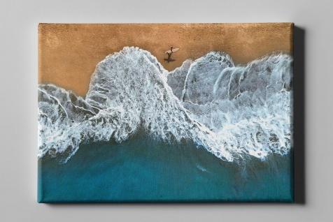 Surfer Welle Meer Strand Leinwand L0326
