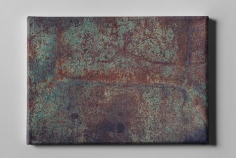 Metall Effekt Rost Grün Industrial Leinwand L0215