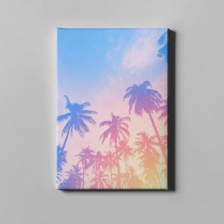 Palmen Retro Filter Sommer Sonne Leinwand L0375