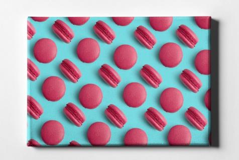 Macarons Rot Muster Leinwand L0081