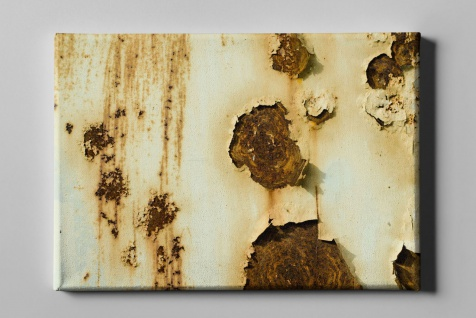Metall Effekt Rost Lack Industrial Art Leinwand L0225