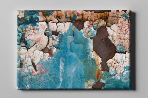 Metall Effekt Rost Lack Blau Industrial Art Leinwand L0226