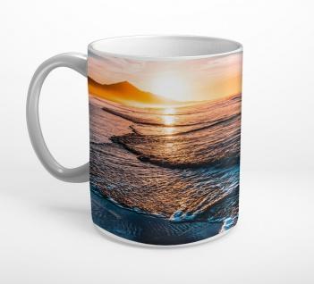 Strand Meer Sonnenuntergang Insel Meer Tasse T0811