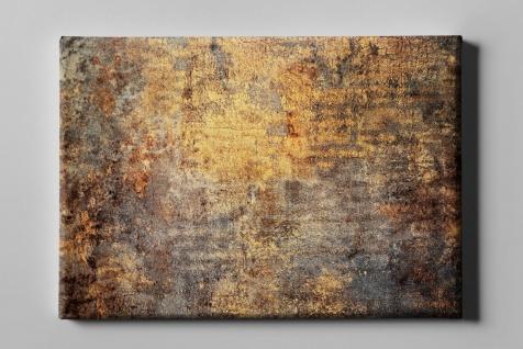 Metall Effekt Rost Gelb Braun Industrial Art Leinwand L0220