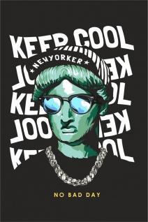 Hipster Freiheitsstatue Kunstdruck Poster P0291