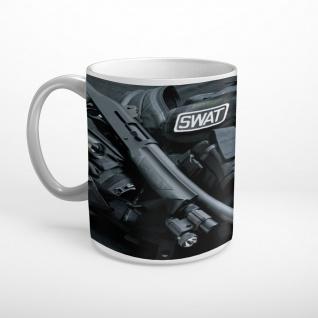 SWAT Ausrüstung Waffen Polizei Tasse T1993