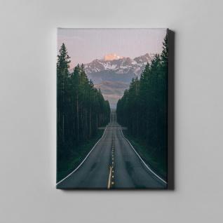 Straße Wald Gebirge Landschaft Leinwand L0379