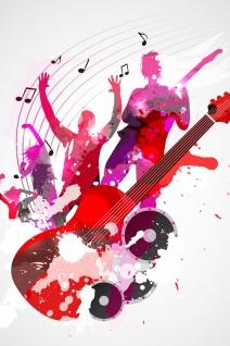 Musiker Collage Musik Illustration Kunstdruck Poster P0418