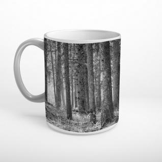 Dichter Wald schwarz weiß Tasse T0786