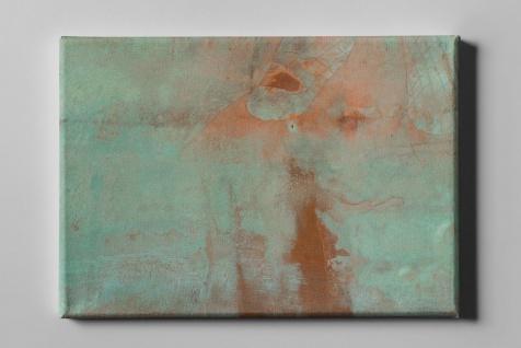 Metall Effekt Rost Pastellgrün Industrial Leinwand L0214