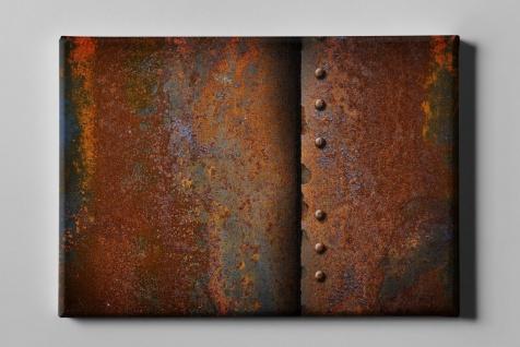 Metallic Effekt Rost Nieten Industrial Leinwand L0209