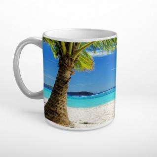 Strand Meer Palme Tasse T1815