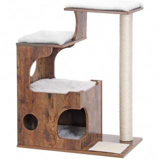 Nancys Luxus Kratzbaum Cat Brown - Kratz für Katzen 88 CM