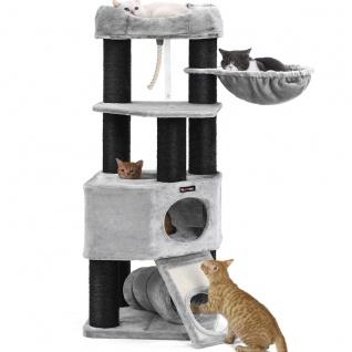 Nancys Kratzbaum XL - Luxus Katzen Haus - Kratzbaum - Katzen - Bei 4 Katzen - 50 x 50 x 141 cm (L x B x H)