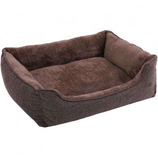Nancys Hundekorb - abnehmbare Deckel - Hundebett - Braun - 90 x 25 x 75 cm