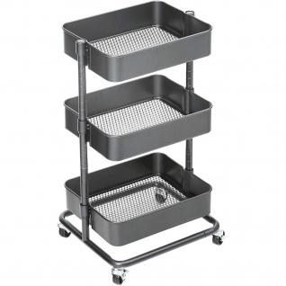 Nancys Aufbewahrungswagen mit drei Ebenen - Küchenwagen - Küche Servierwagen
