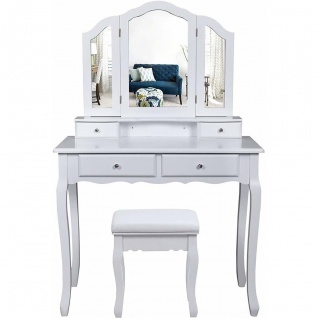 Nancys Beverly Hills 3 Stück Dresser - Kommode mit Spiegel - Make Up Table - Dressing