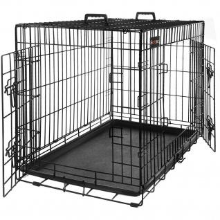 Nancys Dog Cage - Bank - Bank Hund - 2 Türen - Hunde - Zwinger - 75 x 47 x 54 cm