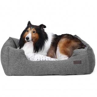 Nancy - Luxus Hundebett - Für Hunde bis 20 KG - Gemütliche Hundesofa - 80 x 60 x 26 cm