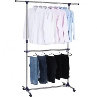 Nancy Mobile Kleiderständer - Kleiderständer auf Rollen - Bekleidung Racks