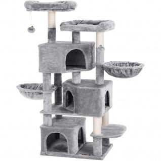 Nancys Kratzbaum mit drei Katzen Höhlen - 164 cm - Katzenhaus - Kratzbaum - Baum Katzen - Katzen-Kratz