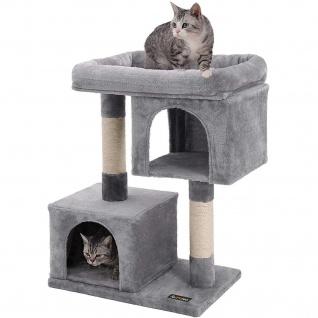 Nancys Hellgrau Kratzbaum - Spielhaus für Katzen - Klimboom 84CM
