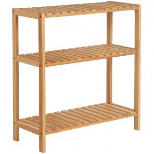 Nancys Badkamerrek Bamboo - Storage Rack mit 3 Ebenen
