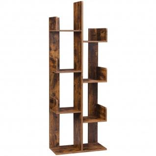Nancys Boekenkast mit 8 Fächern - Book-Standard - Boekensteun - Standschrank - Holz - Industrie - Brown - 50 x 25 x 140 cm